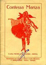 Contessa Mariza. OPERETTA IN TRE ATTI. S. D.. .