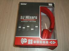 Vivitar Foldable Compact Edition Headphones Red DJ Mixers