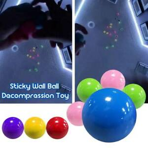 Fluorescent Sticky Wall Ball Sticky Target Ball Decompression Toy Kid Gift