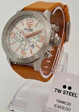 TW Steel watch Chrono Chronograph Armbanduhr Uhr 45 mm Silikonband braun NEU 35