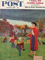 1957 Saturday Evening Post October 5 - Clark Gable;George Raft; Cut and Shoot TX