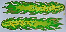 Sticker Aufkleber-Set Flammen 360 x 85 mm, grün - Carstyling Auto-Aufkleber