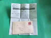 Alnwick & Berwick Garage & Cycle Co Ltd 1917 receipt & stamp cover R37377