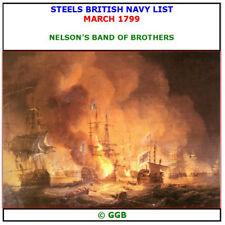 STEELS BRITISH NAVY LIST MARCH 1799 CD ROM