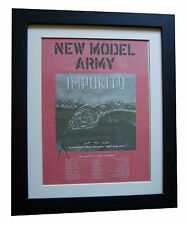 NEW MODEL ARMY+Impurity+POSTER+AD+RARE ORIG 1990+QUALITY FRAMED+FAST GLOBAL SHIP
