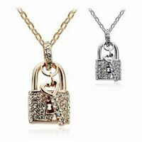 Lucky Key And Lock With Chain Necklace Pendants Fashion Jewelry Women Party Gift