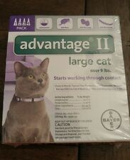 BAYER ADVANTAGE II FLEA CONTROL FOR CATS OVER 9 LBS - NEW 4PACK!!!