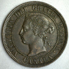 1901 Copper Canadian Large Cent Coin 1-Cent Canada VF #21