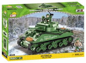 "Cobi 2550 Sherman M4A3E2 ""JUMBO"" Bausatz 720 Teile / 2 Figuren sofort lieferbar!"