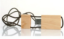 Wooden USB Flash Stick Pen Driver with String Attached 8GB ECO Friendly Maple