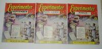 THE EXPERIMENTER 1955 & 1956 MAGAZINES X 3 VOLUME 1 NO 3 NO 5 & NO 6 FREE POST