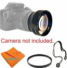 58MM ZOOM TELEPHOTO LENS +UV FILTER FOR CANON REBEL EOS T3 T3I T4 T4I T5 T5I T6I