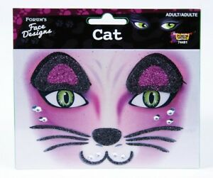 CAT Face Designs Make-up Accessory Face Self Adhesive Décor Art