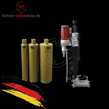 Core drilling machine Ø 132mm with stand and 3 drill bits (100-120V)