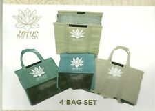 LOTUS TROLLEY REUSABLE GROCERY BAGS - BRAND NEW EARTHTONE - INSULATED, EGGS ETC.
