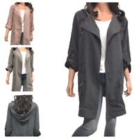 Women Lightweight Cargo Utility Hooded Anorak Coat (S-3XL)