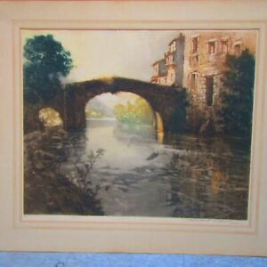 PAUL EMILE LECOMTE Pencil Signed Limited Edition Etching 1/39