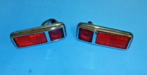 New Set of 2 Rear Side Marker Lights With Rubber Gaskets MG Midget 1970-1979