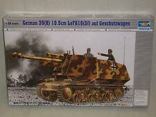Trumpeter 1/35 German 39(H) 10.5cm LeFH18(Sf) auf Geschutzwagen - Sealed