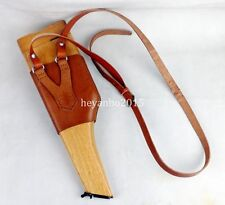 WWII WW2 GERMAN MAUSER BROOMHANDLE LEATHER HOLSTER AND STOCK -G32458