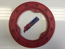 "Hiper 10"" Modified Bead Lock Ring Wheel Ring CF1/Tech 3 Red Beadlock Mud Plug"