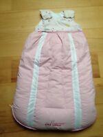 Odenwälder Babynest Clima Balance Daunen 4 Jahreszeiten Schlafsack 70 cm Rosa