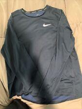 Blue Nike Running Long Sleeve Xl Dry Fit