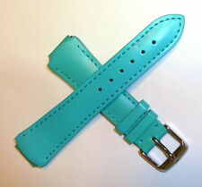 Authentic TechnoMarine Genuine Leather Watch Strap 15MM Turquoise 2523M MoonSun