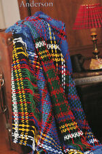 SCOTTISH TARTAN THROW RUG 'Anderson' AFGHAN CROCHET PATTERN in 8ply WOOL