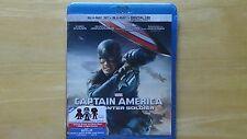 Marvel CAPTAIN AMERICA WINTER SOLDIER Blu-Ray+Blu-Ray 3D+Digital HD New Sealed