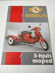 Three Wheeler Simson 2007 Norge Prospectus Catalogue Brochure