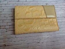 Vintage Blond Crocodile effect leather purse