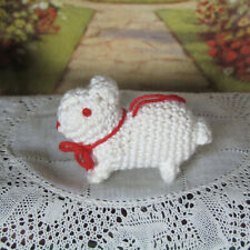 Miniature CROCHETED BUNNY RABBIT STUFFED ANIMAL Dollhouse Nursery Toy Amigurumi