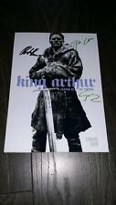 "KING ARTHUR PP SIGNED 12""X8"" A4 PHOTO POSTER CHARLIE HUNNAM JUDE LAW"