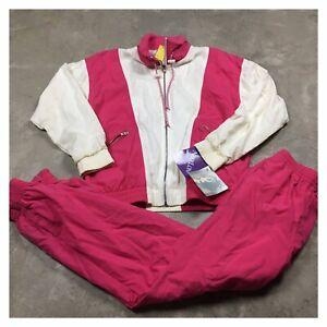 90s VTG NIKE NWT Windbreaker Jacket Pants M Tracksuit Set NIKELON Nylon White