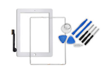 iPad 3 / 4 Digitizer Touchscreen Display Front Glas + Rahmen + Home Button weiss