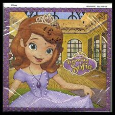 NEW DISNEY SOFIA THE FIRST THEME DESSERT NAPKINS   (24)