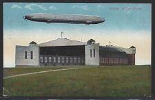 801# AK Feldpost Zeppelin im Flug ü. d. Luftschiffhafen in Leipzig, , gel. 1916
