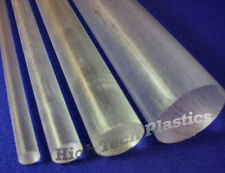 """1.5"""" Diameter by 48"""" Inch Milky Clear Color Polycarbonate Rod, Bar, Roundstock"""