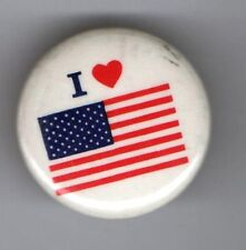 New listing old pin I Love ( Heart ) Us American Flag Usa