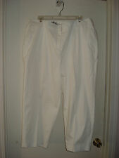KIM ROGERS Solid White Women's Pants, Relaxed Fit in Hips & Thighs, NWT! Sz 18W