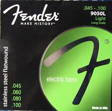 Fender 9050L Stainless Steel Flatwound Bass Strings, MPN 073-9050-403