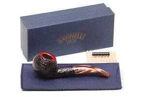 Savinelli Roma Rustic 673 KS Lucite Stem Tobacco Pipe