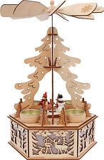 Weihnachtspyramide Fensterdekoration Advent Beleuchtung aus Holz Adventskranz
