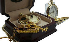 QUEENS ROYAL HUSSARS  POCKET WATCH Tank Keyring Luxury 24k Clad Gift Set QRH