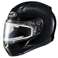 HJC Adult Black CL-17 Electric Heated Snowmobile Helmet Snocross Snell DOT