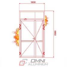 Brandschutz Aluminiumtüre, T30 = Ei30, Brandschutztür PE78EI, 1830 mm x 2560 mm