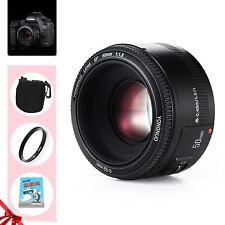 Yongnuo YN 50mm F1.8 Prime Large Aperture AF MF Lens Kit for Canon EOS EF Rebel