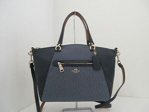 NWT AUTHENTIC COACH 29848 LEGACY JACQUARD PRAIRIE SATCHEL-$275-MIDNIGHT NAVY