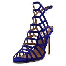 Sandali e scarpe spillo cinturini alla caviglia in camoscio per il mare da donna